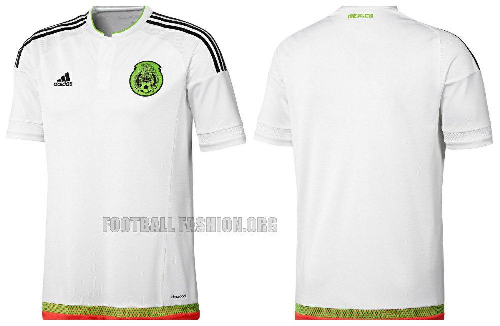 Mexico 2015 2016 adidas Home and Away Soccer Jersey, Football Kit, Shirt, Camiseta, Playera, Equipacion de Futbol Para La Copa America y Copa Oro