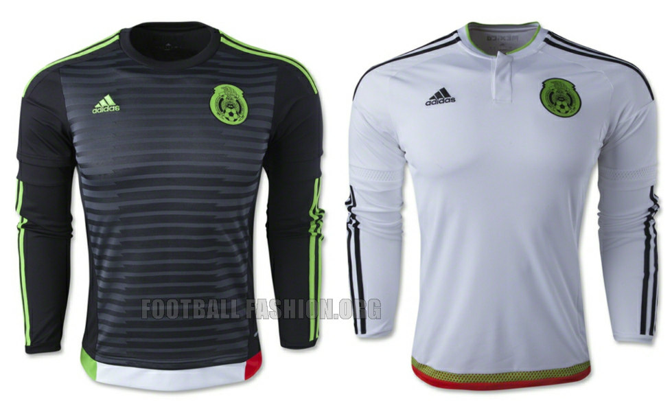 Mexico 201516 adidas home and away jerseys football for Kit homes new mexico