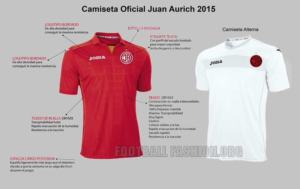 Club Juan Aurich 2015 Joma Home and Away Football Kit, Soccer Jersey, Shirt, Camiseta de Futbol