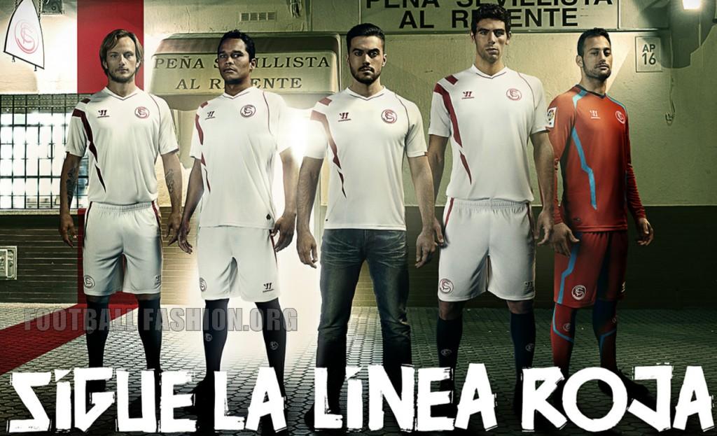 Sevilla Futbol Club 2014 2015 Warrior Home Football Shirt, Kit, Soccer jersey, Camiseta