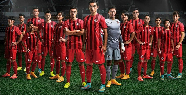 Hong Kong 2014 2015 2016 Nike Home and Away Football Kit, Soccer Jersey, Shirt