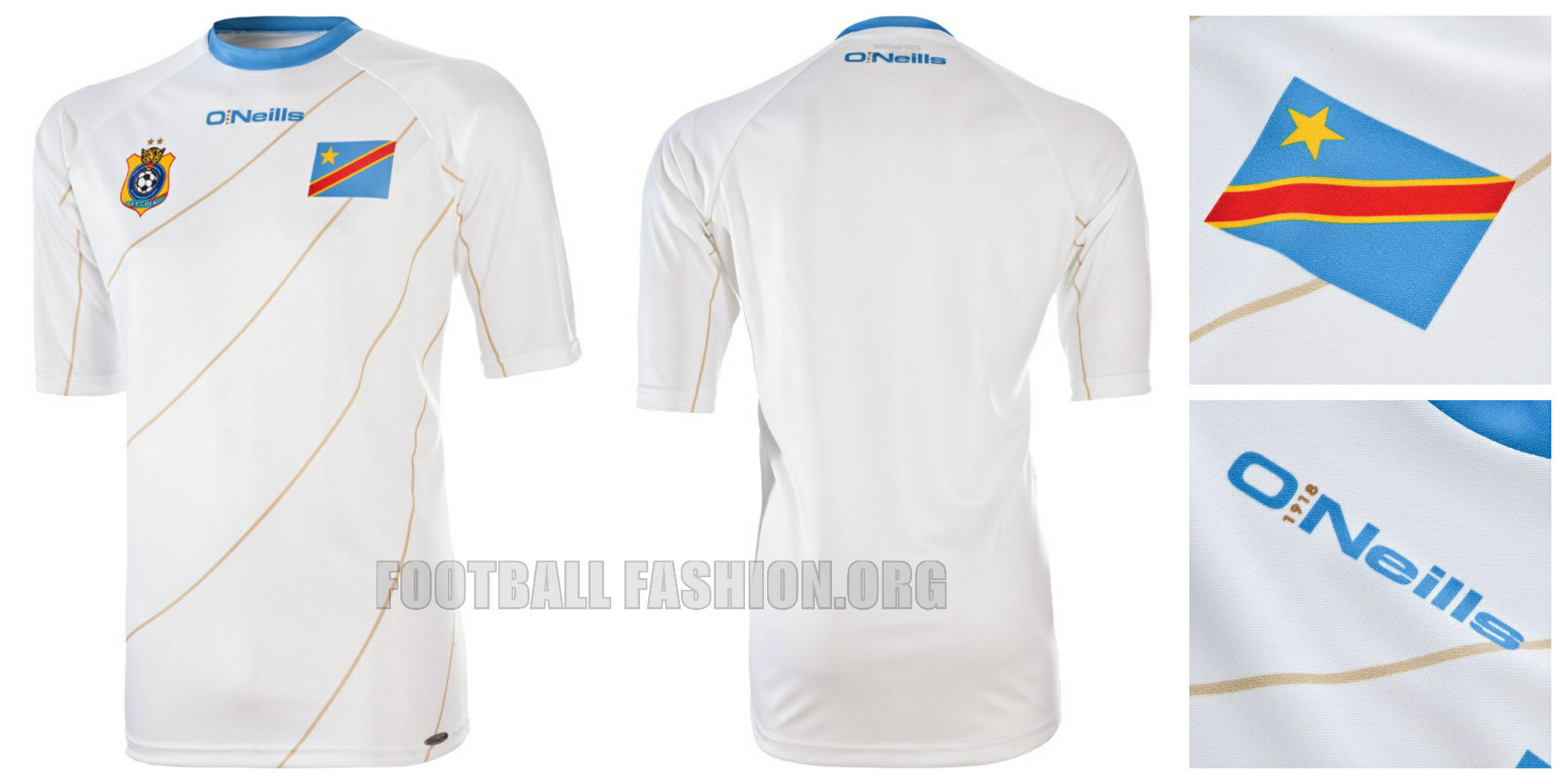 DR Congo 2015 Africa Cup of Nations O Neills Home and Away Jerseys –  FOOTBALL FASHION.ORG c1ade6429