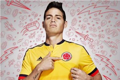 Colombia Yellow 2015 2016 Copa America and World Cup adidas Home Soccer Jersey, Shirt, Football Kit, Camiseta de Futbol Amarilla