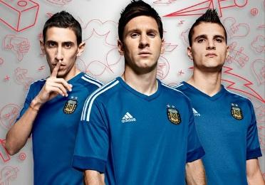 Argentina CopaAmerica 2015 2016 adidas Soccer Jersey, Football Kit, Shirt, Camiseta de Futbol, Playera, Equipacion