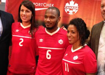 Canada 2015 2016 Umbro World Cup Home Soccer Jersey, Kit, Football Shirt, Maillot