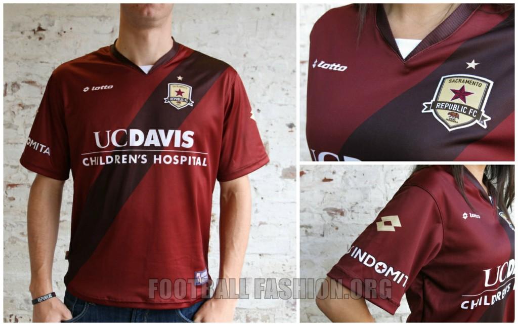 Sacramento Republic FC 2015 Lotto Home and Away Soccer Jersey, Football Kit, Shirt, Camiseta de Futbol