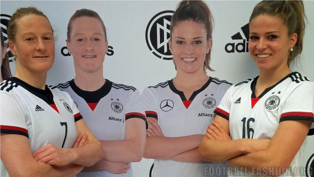 Germany 2015 Women's World Cup adidas Home Football Kit, Soccer Jersey, Shirt, Frauen-Nationalmannschaft neue Trikot für die Weltmeisterschaft