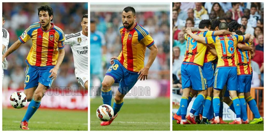 Valencia CF Debut 2015 2016 adidas Away Football Kit, Soccer Jersey, Shirt, Camiseta Senyera