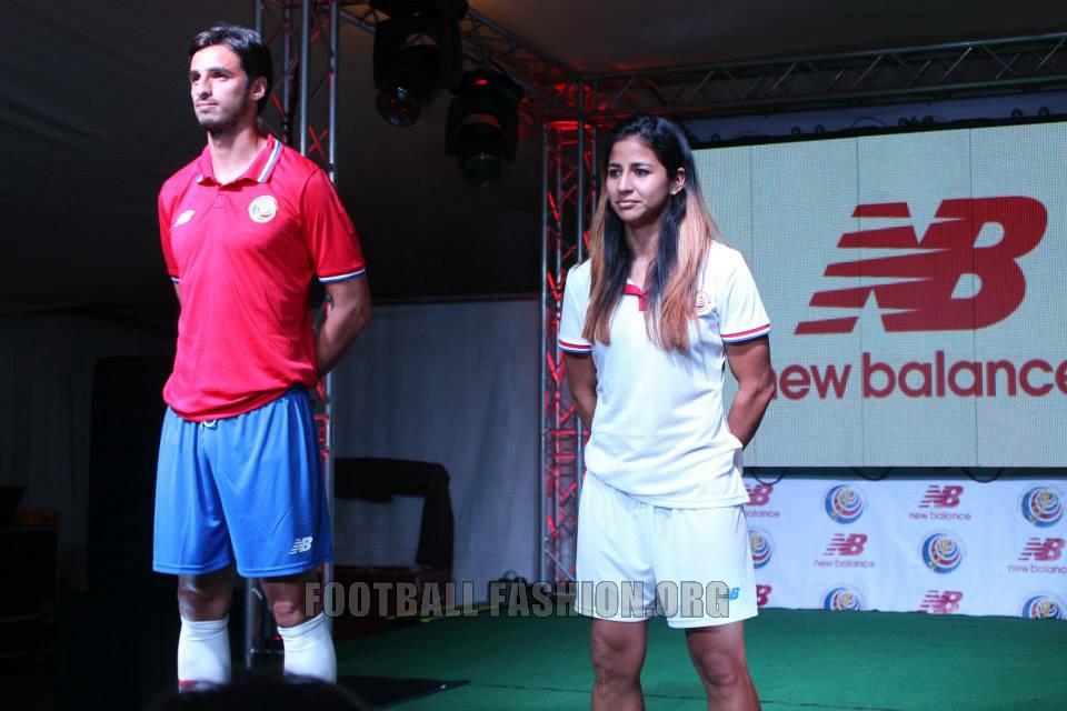 Costa Rica 2015 2016 New Balance Home and Away Football Kit, Soccer Jersey, Shirt, Camiseta de Futbol Copa Oro y Mundial