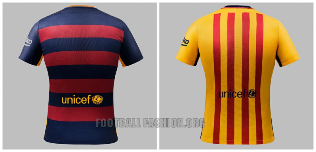 FC Barcelona2015 2016 Hooped Nike Home and Away Football Kit, Soccer Jersey, Shirt, Camiseta de Futbol, Equipacion, Playera