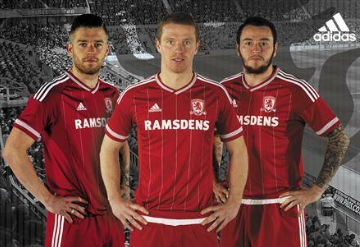 Middlesbrough 2015 2016 Red adidas Home Football Kit, Soccer Jersey, Shirt