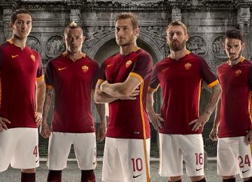 AS Roma 2015 2016 Nike Home Football Kiit, Soccer Jersey, Shirt, Maglia, Gara, Camiseta
