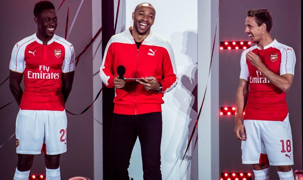 Arsenal Football Club 2015 2016 PUMA Red Home Kit, Shirt, Soccer Jersey, Camiseta, Maillot