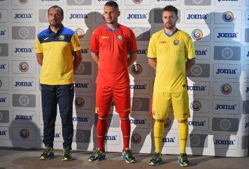 Romania 2015 2016 Joma Home and Away Football Kit, Soccer Jersey, Kit