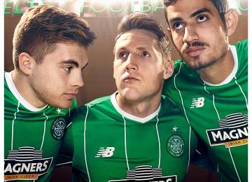 New Balance Reveals Celtic Football Club 2015 2016 Green Away Football Kit, Shirt, Soccer Jersey