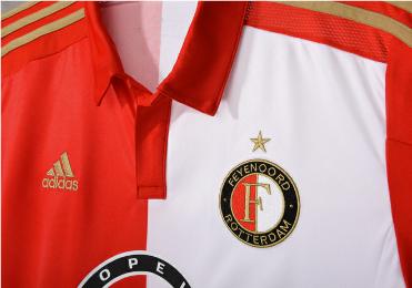 Feyenoord Rotterdam 2015 2016 adidas Home Football Kit, Soccer Jersey, Thuisshirt