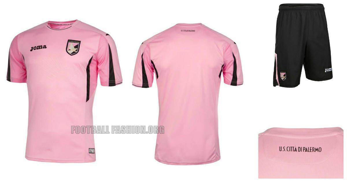 Palermo 2015 2016 Pink Joma Home, Away, Third Football Kit, Soccer Jersey, Shirt, Gara, Maglia, Camiseta