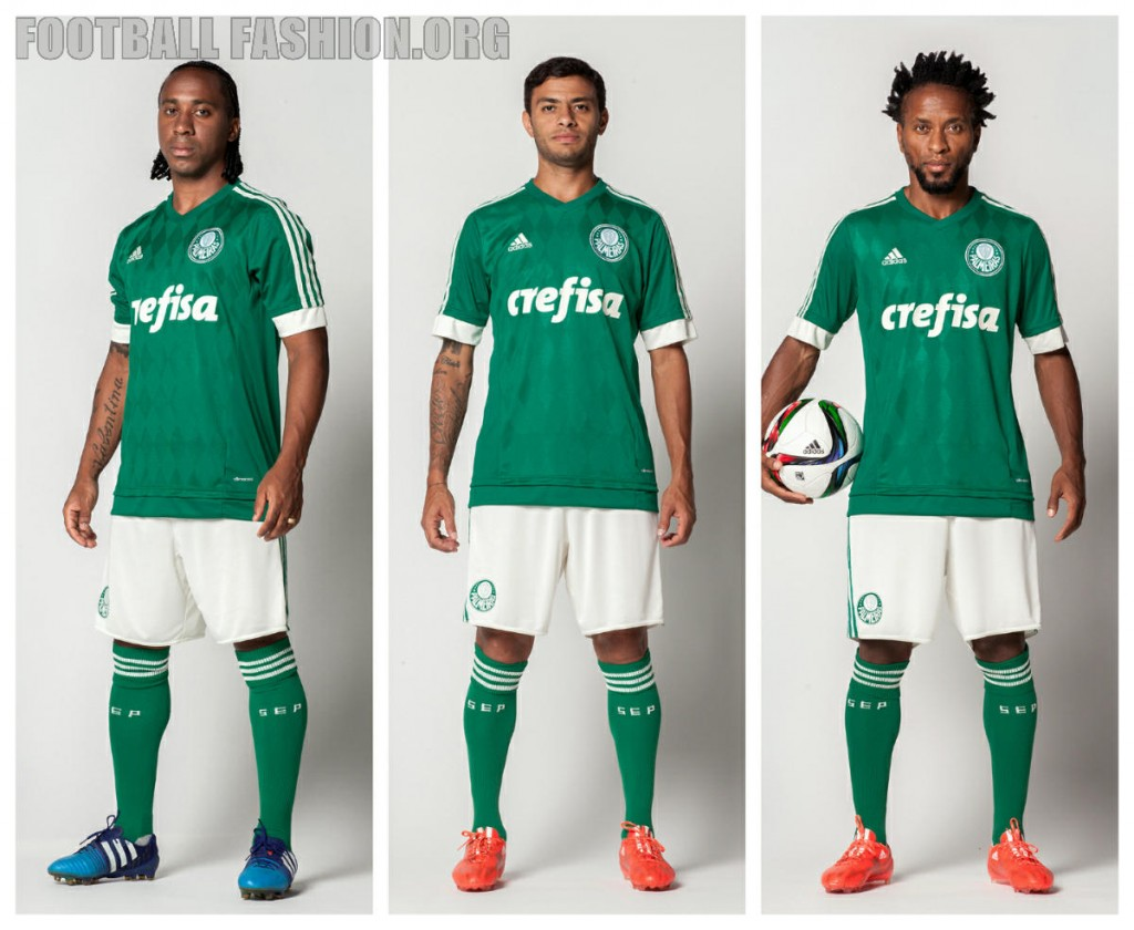 Palmeiras 2015 2016 adidas Home Football Kit, Shirt, Jersey, Camisa do Futebol
