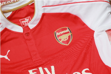 Arsenal 2015 2016 PUMA Authentic Player Issue Home Football Kit, Soccer Jersey, Shirt, Camiseta, Maillot