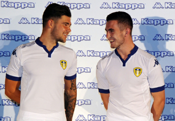 Leeds United Football Club 2015 2016 White Kappa Home Kit, Soccer Jersey, Shirt