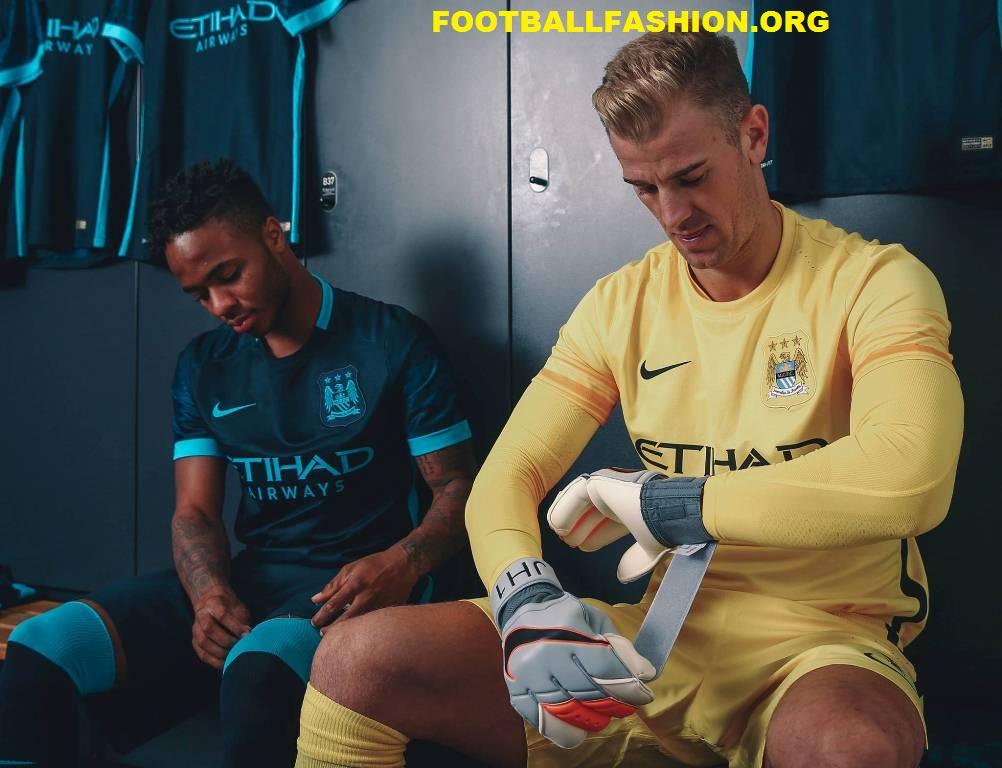Manchester City Football Club 2015 2016 Nike Away Kit, Soccer Jersey, Shirt, Camiseta, Maillot, Camisa