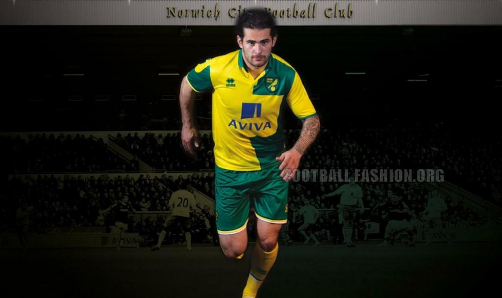 Norwich City Football Club 2015 2016 Errea Home Football Club, Soccer Jersey, Shirt