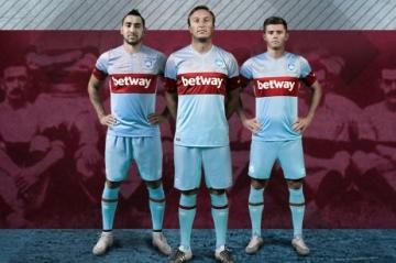 West Ham United 2015 2016 Umbro Away Football Kit, Shirt, Soccer Jersey
