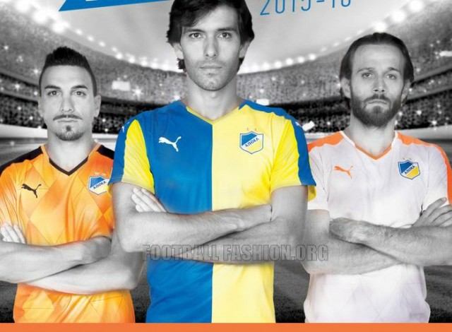 APOEL FC 2015 2016 PUMA Home, Away and Third Football Kit, Soccer Jersey, Shirt