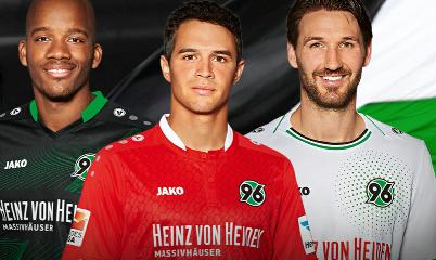 Hannover 96 Jako 2015 2016 Home, Away and Third Kit, Shirt, Soccer Jersey, Trikot