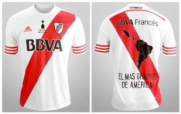 River Plate 2015 Copa Libertadores Champions adidas Home Soccer Jersey, Football Kit, Shirt, Camiseta Campeones de America