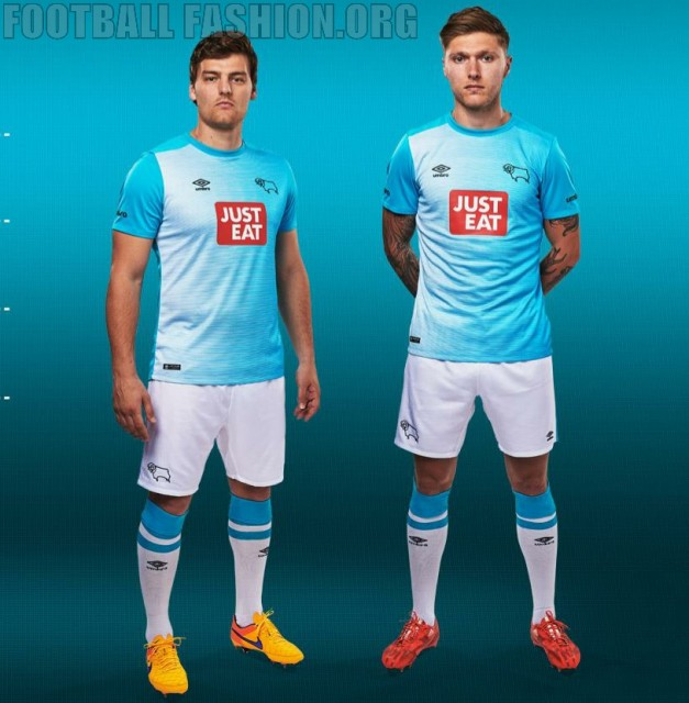Derby County Football Club 2015 2016 Umbro Third Kit, Soccer Jersey, Shirt