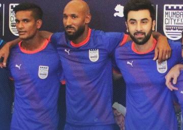 Mumbai City FC 2015 2016 PUMA Home Football Kit, Soccer Jersey, Shirt
