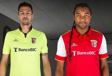 SC Braga 2015 2016 Lacatoni Home and Away Football Kit, Soccer Jersey, Shirt, Camisa. Camiseta