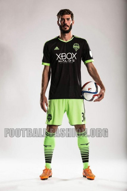 "Seattle Sounders 2015 ""Halo 5: Guardians"" adidas Third Soccer Jersey, Football Kit, Shirt, Camiseta de Futbol"