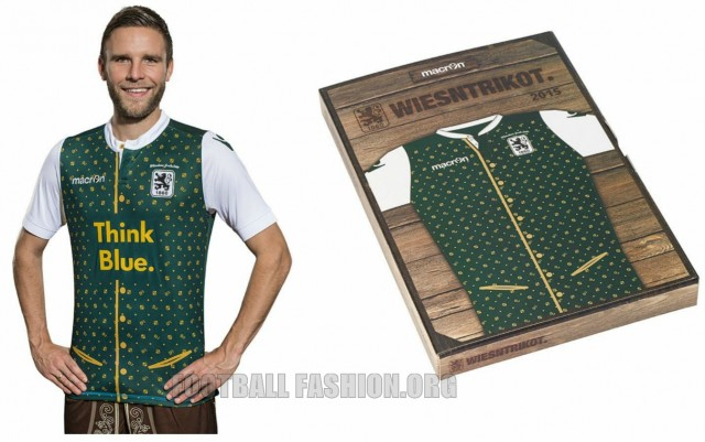 TSV 1860 München Macron 2015 Oktoberfest Soccer Jersey / Football Kit / Wisen Trikot