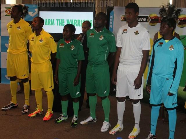 Zimbabwe 2015 2016 Joma Home, Away and Third Football Kit, Soccer Jersey, Shirt