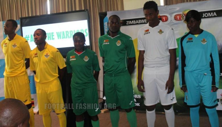 Zimbabwe 2015/16 Joma Home, Away and Third Football Kit, Soccer Jersey, Shirt