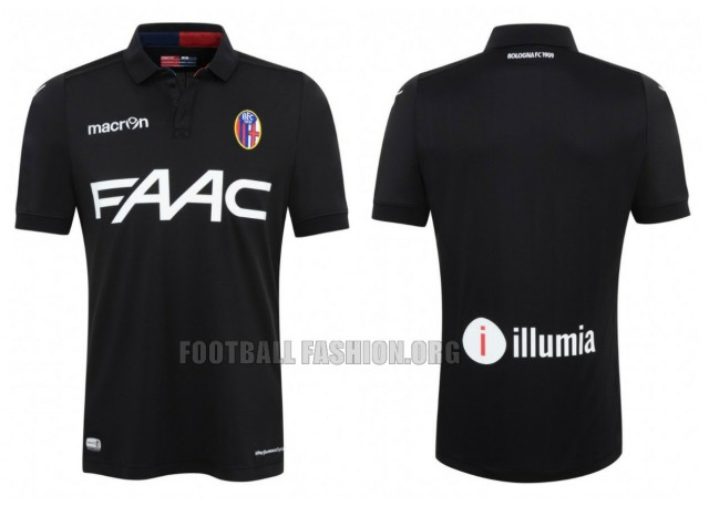 Bologna FC 2015 2016 Macron Black Third Football Kit, Soccer Jersey, Shirt, Maglia, Gara