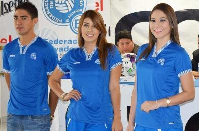 El Salvador 2015 2016 Mitre Home Football Kit, Soccer Jersey, Shirt, Camiseta, Equipacion, Piel