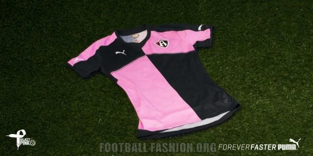 PUMA 2015 Project Pink Liga MX Soccer Jersey, Shirt, Football Kit, Camiseta Rosa