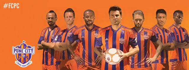 FC Pune City 2015 2016 adidas Home and Away Football Kit, Soccer Jersey, Shirt