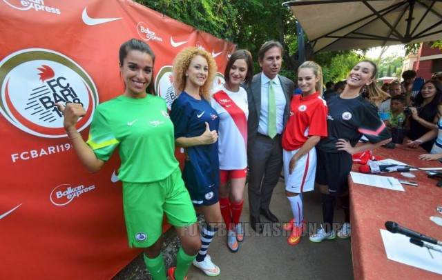 FC Bari 1908 Nike 2015 2016 Home, Away and Third Football Kit, Soccer Jersey, Shirt, Gara, Maglia