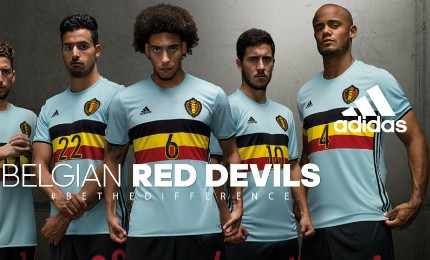 db89ec1c939 Belgium EURO 2016 adidas Away Kit - FOOTBALL FASHION.ORG