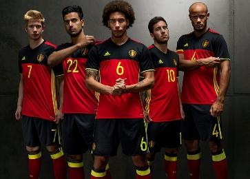 Belgium EURO 2016 Red adidas Home Soccer Jersey, Shirt, Football Kit, Maillot, Tenue, Thuisshirt