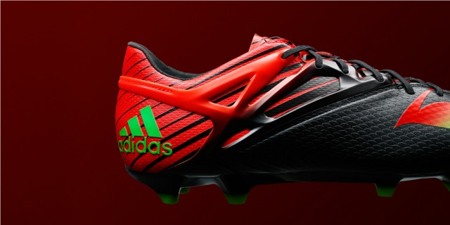 Lionel Messi adidas Black Red Green Messi 15 Boots