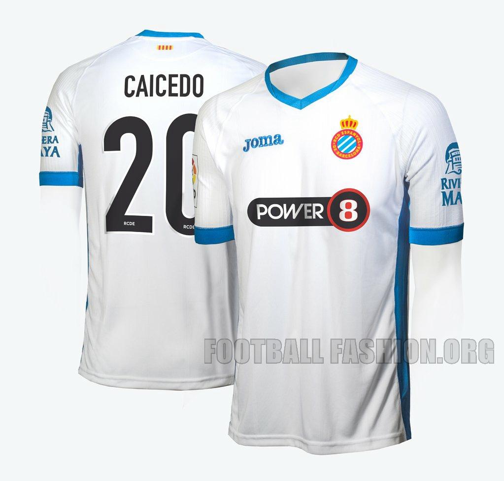 RCD Espanyol 201520 16 Joma White Third Football Kit, Soccer Jersey, Shirt, Camiseta de Futbol, Equipacion