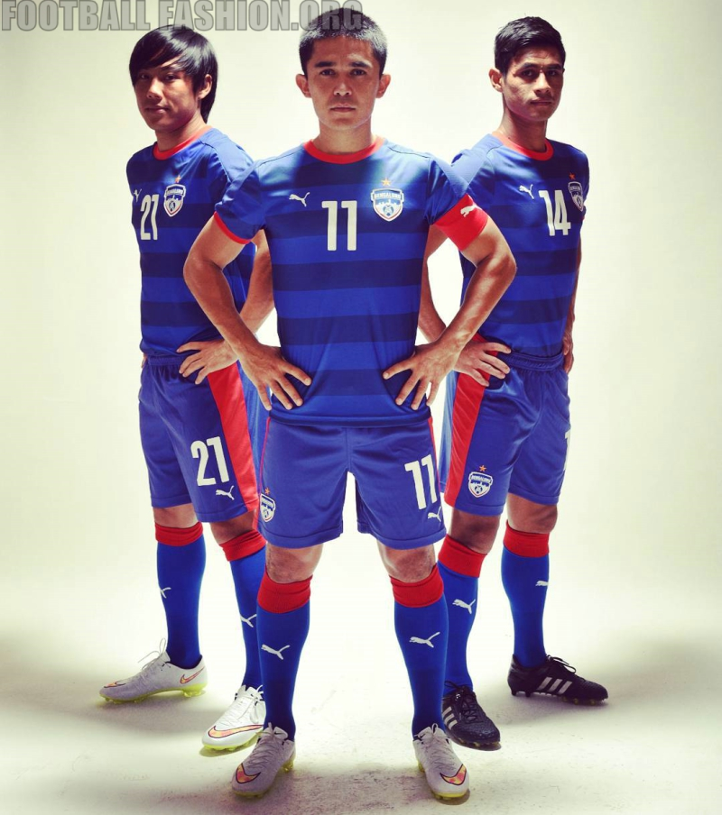 Bengaluru FC 2016 PUMA Home Football Kit, Soccer Jersey, Shirt