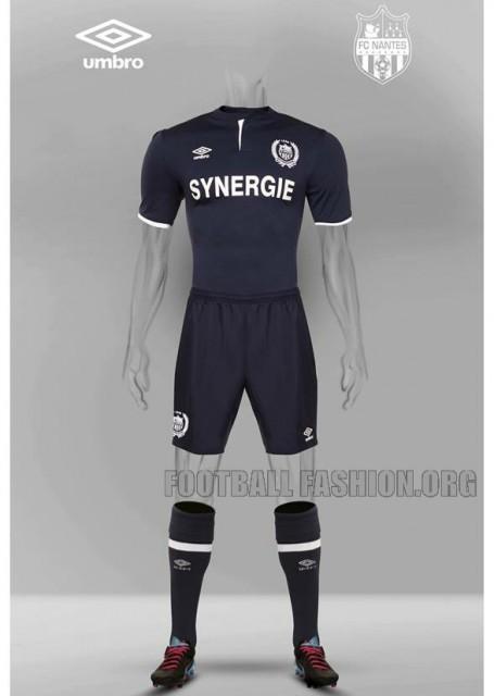 FC Nantes 2015 2016 Umbro Away Football Kit, Soccer Jersey, Shirt, Maillot Extérieur