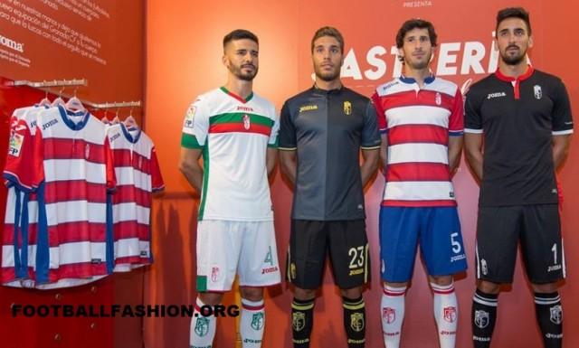 Granada CF 2015 2016 Joma Home, Away and Third Football Kit, Soccer Jersey, Shirt, Camiseta de Futbol