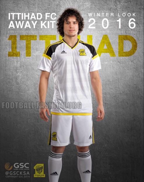 Ittihad FC 2016 adidas Winter Home and Away Football Kit, Soccer Jersey, Shirt